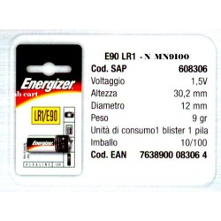PILE ENERGIZER E 90 - N 1,5...