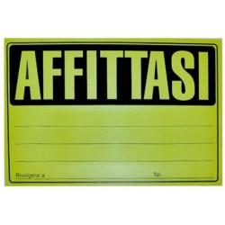 """CARTELLO """"AFFITTASI"""" cm 23x33"""