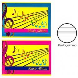 ALBUM MUSICA cm 17x24 8 fg